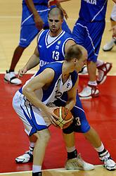 06-09-2006 BASKETBAL: NEDERLAND - SLOWAKIJE: GRONINGEN<br /> De basketballers hebben ook de tweede wedstrijd in de kwalificatiereeks voor het Europees kampioenschap in winst omgezet. In Groningen werd een overwinning geboekt op Slowakije: 71-63 / Peter Praznovsky<br /> ©2006-WWW.FOTOHOOGENDOORN.NL