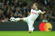 Harry Kane of Tottenham Hotspur takes a shot at goal. UEFA Champions league match, group E, Tottenham Hotspur v CSKA Moscow at Wembley Stadium in London on Wednesday 7th December 2016.<br /> pic by John Patrick Fletcher, Andrew Orchard sports photography.
