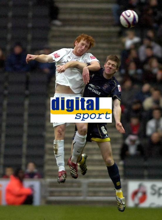 Photo: Matt Bright/Sportsbeat Images.<br />Milton Keynes Dons v Accrington Stanley. Coca Cola League 2. 08/12/2007.<br />Dean Lewington of MK Dons & Andrew Proctor of Accrington