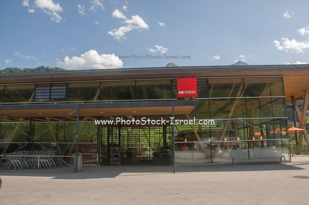 MPREIS, Tyrol's modern local supermarket Photographed in Tyrol, Austria