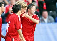 Fotball ,  05. august 2008 ,  Privatkamp , Vålerenga - Liverpool 1-4<br /> <br /> Valerenga - Liverpool<br /> <br /> Robbie Keane , Fernando  Torres , Yossi Benayoun Liverpool