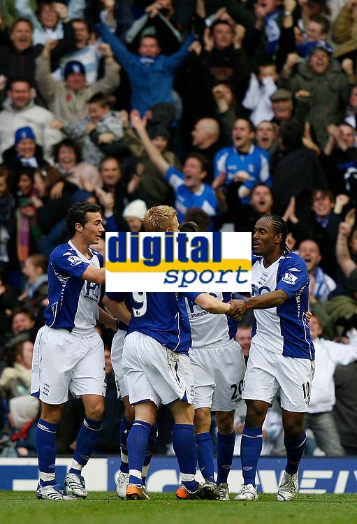 Photo: Steve Bond/Sportsbeat Images.<br /> Birmingham City v Aston Villa. The FA Barclays Premiership. 11/11/2007. Mikael Forssell (9) is congratulated