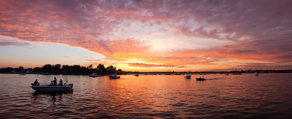 Summer in Rhode Island is something else, and being out on the water is one of the best ways to enjoy it.  This was one spectacular sunset we watched as we waited for a Fourth of July Fireworks celebration outside of Wickford Harbor.