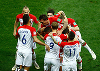 Ivan Perisic (Croatia) and teammates celebrate after 1-1<br /> Moscow 15-07-2018 Football FIFA World Cup Russia  2018 Final / Finale <br /> France - Croatia / Francia - Croazia <br /> Foto Matteo Ciambelli/Insidefoto