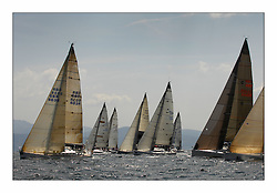 Bell Lawrie Scottish Series 2008. Fine North Easterly winds brought perfect racing conditions in this years event..Class 1 pacing off the startline Class 1 Playing FTSE GBR603R ahead.