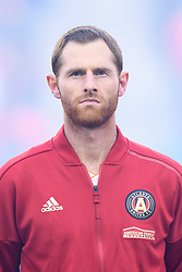 October 28, 2018 - Toronto, ON, U.S. - TORONTO, ON - OCTOBER 28: Chris McCann (16) of Atlanta United FC stands for the national anthems before the MLS Decision Day match between Toronto FC and Atlanta United FC on October 28, 2018, at BMO Field in Toronto, ON, Canada. (Photograph by Julian Avram/Icon Sportswire) (Credit Image: © Julian Avram/Icon SMI via ZUMA Press)