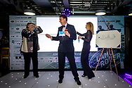 Guests at the Sail Aid UK charity dinner this evening at Land Rover BAR in Portsmouth, the home of Sir Ben Ainslie's America's Cup team. The Sail Aid UK charity was created following the devastating hurricanes that struck the Caribbean in September this year. Their mission is to help those Islands and their communities that were so tragically affected by the hurricanes to rebuild, restore, and regenerate their communities, be it through educational, health and welfare, building, or tourism promotion projects.<br /> Picture date: Saturday November 11, 2017.<br /> Photograph by Christopher Ison ©<br /> 07544044177<br /> chris@christopherison.com<br /> www.christopherison.com