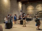Tourists, the Palais de Papes or Pope's Palace, Avignon, 10 June 2018