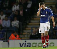 Photo: Lee Earle.<br /> Portsmouth v Leeds United. Carling Cup. 28/08/2007.Portsmouth's David Nugent.