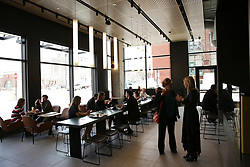 April 24, 2018 - Chicago, IL, USA - The new McDonald's restaurant on the ground floor of the new corporate headquarters in Fulton Market district, Tuesday, April 24, 2018 in Chicago. (Credit Image: © E. Jason Wambsgans/TNS via ZUMA Wire)