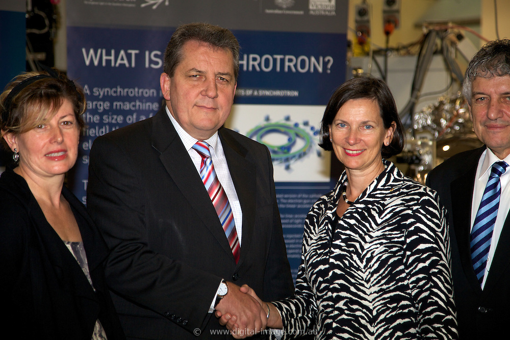 Australian Synchrotron Funding Announcement by:.Senator the Hon Chris Evans.Minister for Tertiary Education, Skills, Science and Research.and.Anna Burke MP.Federal Member for Chisholm.with.Mrs Catherine Walter AM.Chair, Board of Australian Synchrotron