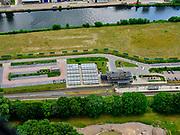 Nederland, Gelderland, Gemeente Lochem, 21–06-2020; Station van Lochem (spoorlijn Zutphen - Glanerbeek.<br /> Lochem railroad station.<br /> <br /> luchtfoto (toeslag op standaard tarieven);<br /> aerial photo (additional fee required)<br /> copyright © 2020 foto/photo Siebe Swart