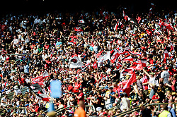 Saracens fans - Mandatory by-line: Ryan Hiscott/JMP - 01/06/2019 - RUGBY - Twickenham Stadium - London, England - Exeter Chiefs v Saracens - Gallagher Premiership Rugby Final
