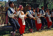 "Dancers perform the Spoon Dance, which is a tradition from Konya to Silifke in the Republic of Turkey. Image published in the travel handbook ""Moon Istanbul & the Turkish Coast"" by Jessica Tamtürk, Avalon Travel Publishing, 2010."