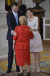 19.06.2015, Madrid, ESP, König Felipe VI und Königin Letizia im Orden del Merito, im Bild Spanish Royals King Felipe VI of Spain and Queen Letizia of Spain // during the Orden del Merito Civil decorations imposition ceremony at Madrid, Spain on 2015/06/19. EXPA Pictures © 2015, PhotoCredit: EXPA/ Alterphotos/ Pool<br /> <br /> *****ATTENTION - OUT of ESP, SUI*****