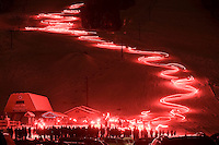 A torchlight parade winds down Snow King Mountain to kick off a memorial celebrating the life of Jackson Hole skiing pioneer Jimmy Zell. Zell died Dec. 14, 2010 after a long illness.