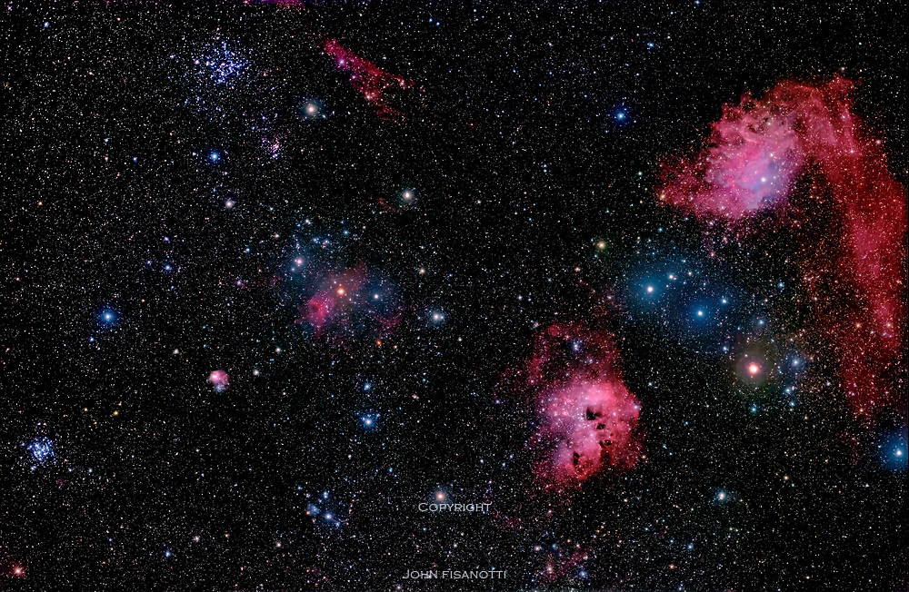 Deep Sky Objects in Central Auriga