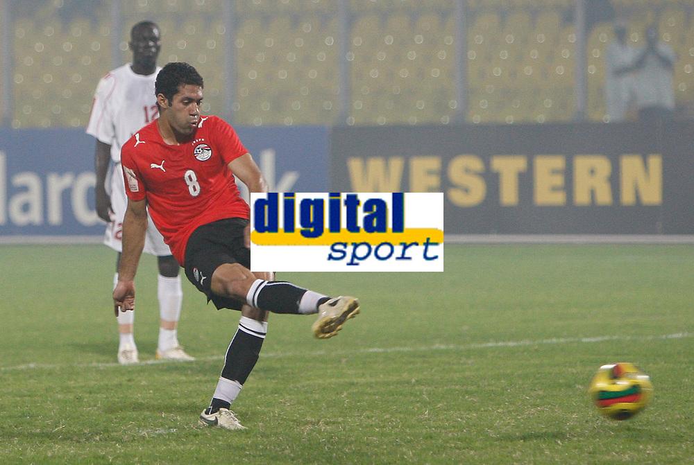 Photo: Steve Bond/Richard Lane Photography.<br /> Egypt v Sudan. Africa Cup of Nations. 26/01/2008. Hosny Abd-Rabou strokes home the twice taken penalty