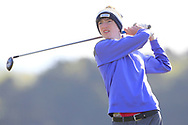 James Gillespie (East Cork) on the 2nd tee during Round 2 of the Ulster Boys Championship at Donegal Golf Club, Murvagh, Donegal, Co Donegal on Thursday 25th April 2019.<br /> Picture:  Thos Caffrey / www.golffile.ie