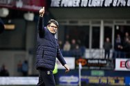 Luton Town FC interim manager Mick Harford giving the thumbs up to the fans before the EFL Sky Bet League 1 match between Luton Town and Peterborough United at Kenilworth Road, Luton, England on 19 January 2019.