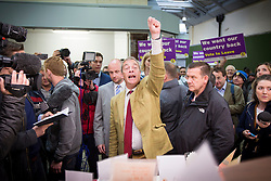 © Licensed to London News Pictures. 01/06/2016. Leeds UK. Nigel Farage visits Leeds Kirgate Market today to campaign for an out vote in the EU Referendum. Photo credit: Andrew McCaren/LNP