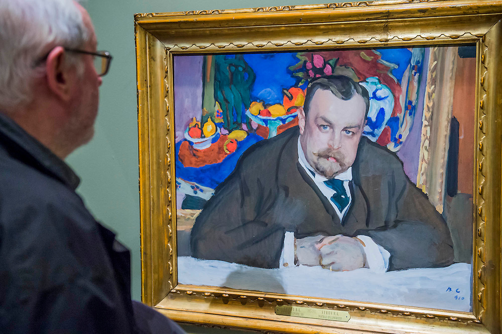 Ivan Morozov by Valentin Serov, 1910 - Russia and the Arts: The Age of Tolstoy and Tchaikovsky - Part of a cultural exchange with the State Tretyakov Gallery in Moscow, a new exhibition marking the 160th anniversary of both galleries. Works include key figures from the 'golden age of the arts' in Russia, 1867-1914. Runs until June 26. Private view March 14. National Portrait Gallery, St Martin's Place, London.