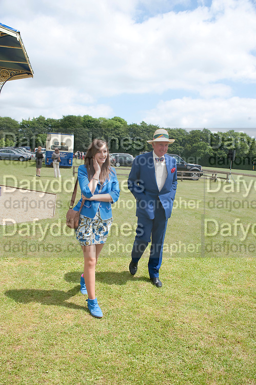 ALICE COOK; ANDREW COOK, The Dalwhinnie Crook  charity Polo match  at Longdole  Polo Club, Birdlip  hosted by the Halcyon Gallery. . 12 June 2010. -DO NOT ARCHIVE-© Copyright Photograph by Dafydd Jones. 248 Clapham Rd. London SW9 0PZ. Tel 0207 820 0771. www.dafjones.com.