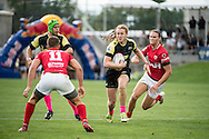 Lindenwood University takes on the University of Utah at Red Bull Uni 7s Rugby Qualifiers at Infinity Park in Glendale, CO, USA, on 25 August, 2016.