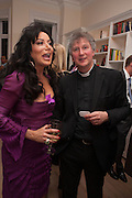 FATHER MICHAEL SEED; NANCY DELL D'OLIO;, Drinks party given by Basia and Richard Briggs,  Chelsea. London. SW3. 13 February 2014.