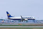 Ryanair Boeing 737-800 Next Gen, (EI-DWK ), ready for take off. at Malpensa (MXP / LIMC), Milan, Italy