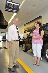 McDermott Lexus of New Haven Dealership Photo. Doug Summerton, Service Manager. Employee posing as customer.