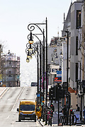 April 6, 2020, London, England, United Kingdom: General view of Brighton's city centre nearly empty at midday in Brighton, East Sussex, as the country is in lockdown to help curb the spread of the coronavirus, Monday, April 6, 2020. (Credit Image: © Vedat Xhymshiti/ZUMA Wire)