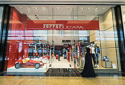 view of Ferrari Store inside new extension of Mall of the Emirates in United Arab Emirates