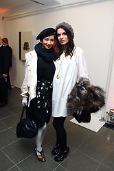 Left to right, stylist HANNAH BHUIYA and jeweller LARA BOHINC at a party to celebrate the publication of Vivienne Westwood's Opus held at The Serpentine Gallery, Kensington Gardens, London W2 on 12th February 2008.<br />