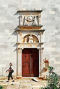 Portal, Franciscan monastery and church, island of Badija, Croatia