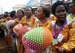 LAGOS, NIGERIA - OCTOBER 20: Coronation ceremony of the new king of Benin Kingdom, Eheneden Erediauwa is held in Lagos, Nigeria on October 20, 2016.   (Credit Image: RealTime Images)