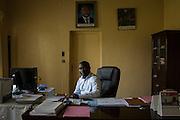 Denis Karera, chairman of the Imbonerakure, a youth wing of the ruling party and general director of Arfic Coffee, in the capital Bujumbura in Burundi.