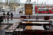 As the Coronavirus pandemic spreads across the UK, businesses and entertainment venues not already closed with the threat of job losses, struggle to stay open with growing rumours of a lockdown and travel restrictions around the capital. As Londoners start to work from home, a branch of Pret a Manger is open only to takeaways, on 19th March 2020, in London, England.