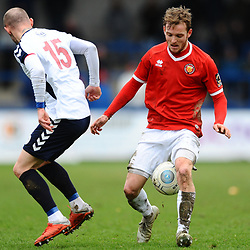 TELFORD COPYRIGHT MIKE SHERIDAN 9/3/2019 - Adam Dawson of AFC Telford during the National League North fixture between AFC Telford United and FC United of Manchester (FCUM) at the New Bucks Head Stadium