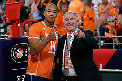 21-09-2019 NED: EC Volleyball 2019 Netherlands - Germany, Apeldoorn<br /> 1/8 final EC Volleyball / Nimir Abdelaziz #14 of Netherlands, Luc Hoeben