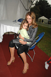 TRINNY WOODALL and her daughter LYLA ELICHAOFF  at Macmillan Dog Day in aid of Macmillan Cancer Support, held at Royal Hospital Chelsea, London on 3rd July 2007.<br />