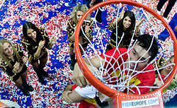 Team of Spain became the European Champion 2009 at the EuroBasket 2009 after they won at Final match between Spain and Serbia, on September 20, 2009, in Arena Spodek, Katowice, Poland.  Spain won, Serbia placed second, Greece third and Slovenia fourth. (Photo by Vid Ponikvar / Sportida)