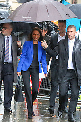 © Licensed to London News Pictures. 24/09/2019. London, UK. Businesswoman and political activist GINA MILLER arrive at UK Supreme Court in London. Last week the court heard an appeal in the multiple legal challenges against the Prime Minister Boris Johnson's decision to prorogue Parliament ahead of a Queen's speech on 14 October. The court will rule on the legality of Boris Johnson's decision to suspend Parliament at 10.30am. Photo credit: Dinendra Haria/LNP