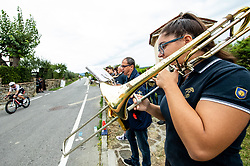Music band playing for athletes when they compete during Ironman 70.3 Slovenian Istra 2019, on September 22, 2019 in Koper / Capodistria, Slovenia. Photo by Vid Ponikvar / Sportida