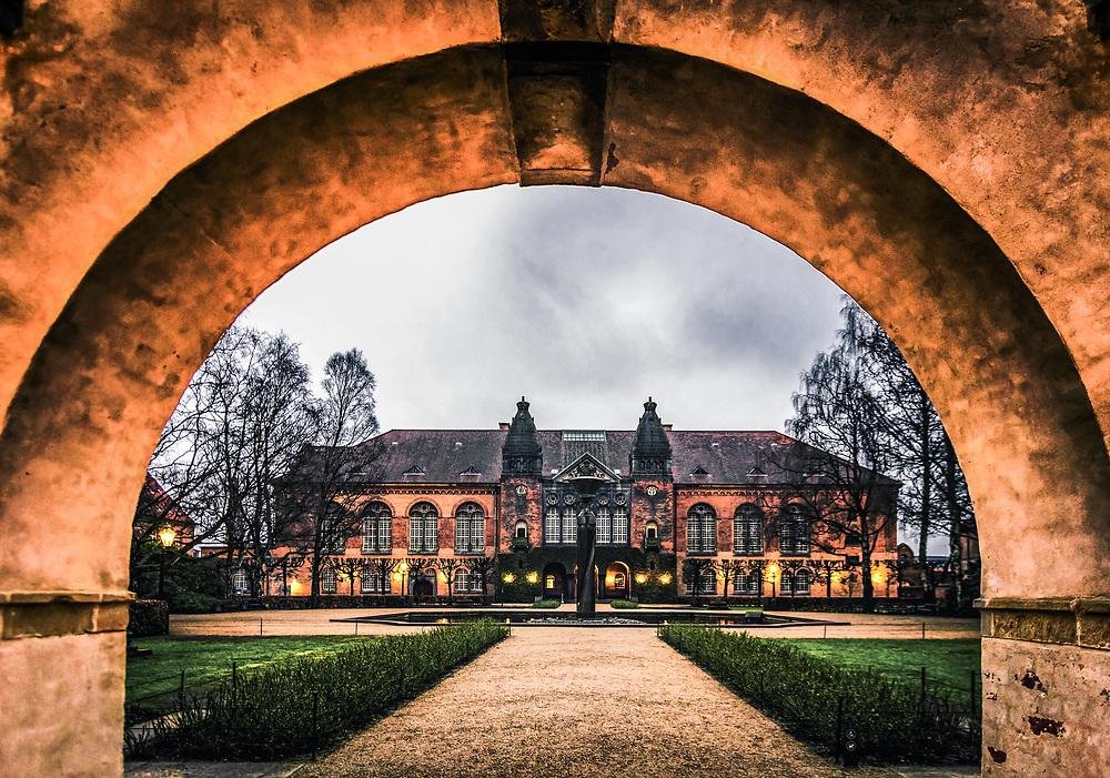 Funder Bibliotekshaven and Library Garden in Copenhagen, Denmark