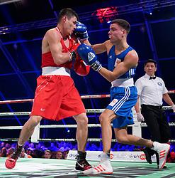 17-11-2019 NED: World Port Boxing Netherlands - Kazakhstan, Rotterdam<br /> 3rd World Port Boxing in Excelsior Stadion Rotterdam / Enrico Lacruz (NED) in action against Zakir Safiullin (KAZ), 63 kg class