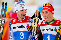 February 22, 2019 - Seefeld In Tirol, AUSTRIA - 190222 Jan Schmid of Norway and Eric Frenzel of Germany after competing in men's nordic combined 10 km Individual Gundersen during the FIS Nordic World Ski Championships on February 22, 2019 in Seefeld in Tirol..Photo: Vegard Wivestad GrÂ¿tt / BILDBYRN / kod VG / 170288 (Credit Image: © Vegard Wivestad Gr¯Tt/Bildbyran via ZUMA Press)