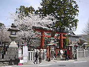 Japan, Honshu, Nara Torii, (entrance gate) at Todai-Ji Temple