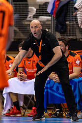 11-04-2019 NED: Netherlands - Slovenia, Almere<br /> Third match 2020 men European Championship Qualifiers in Topsportcentrum in Almere. Slovenia win 26-27 / Coach Erlingur Richardsson of Netherlands
