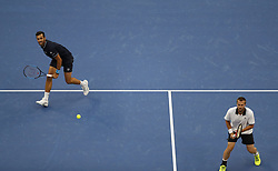 BEIJING, Oct. 6, 2018  Oliver Marach (R) of Austria/Mate Pavic of Croatia compete during the men's doubles semifinal against Ivan Dodig/Nikola Mektic of Croatia at the China Open tennis tournament in Beijing, capital of China, Oct. 6, 2018. Ivan Oliver Marach/Mate Pavic won 2-0. (Credit Image: © Jia Haocheng/Xinhua via ZUMA Wire)